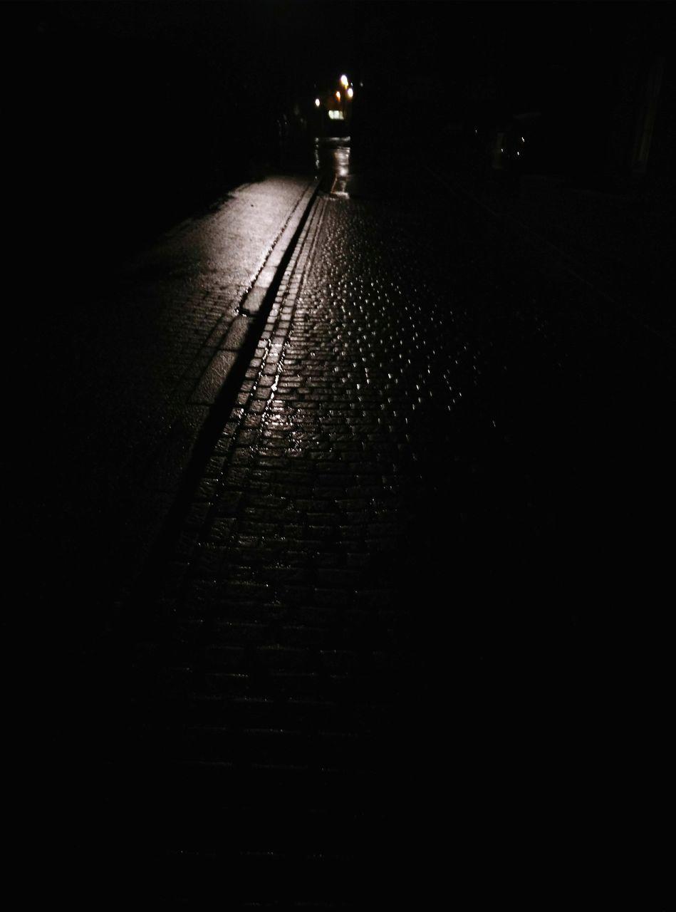 night, illuminated, the way forward, no people, outdoors, walkway