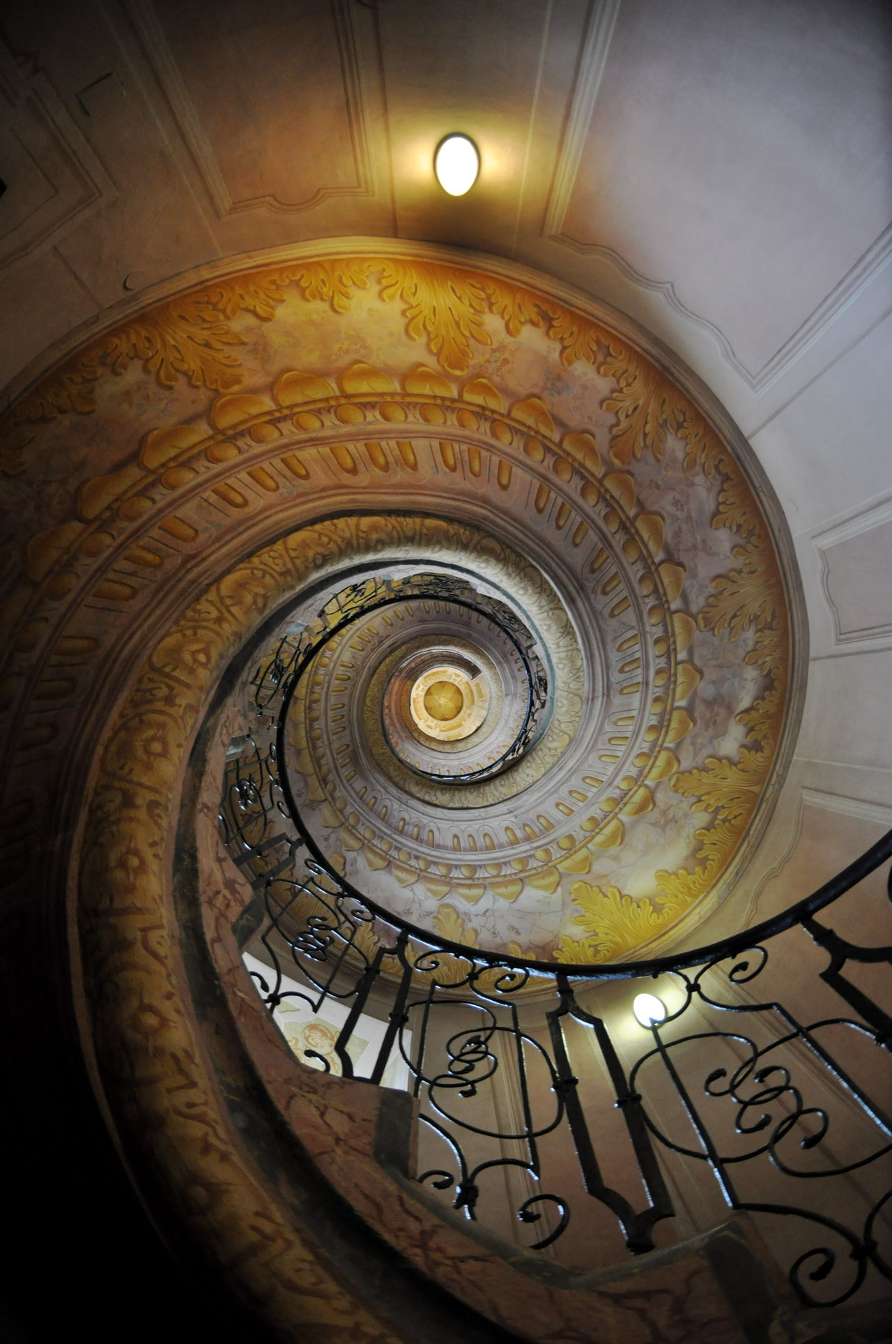 Melk Abbey Stairs Architecture Architecture And Art Built Structure Circle Coil Diminishing Perspective Indoors  Melk Melk Abbey No People Spiral Spiral Staircase Spiral Stairs Staircase Steps