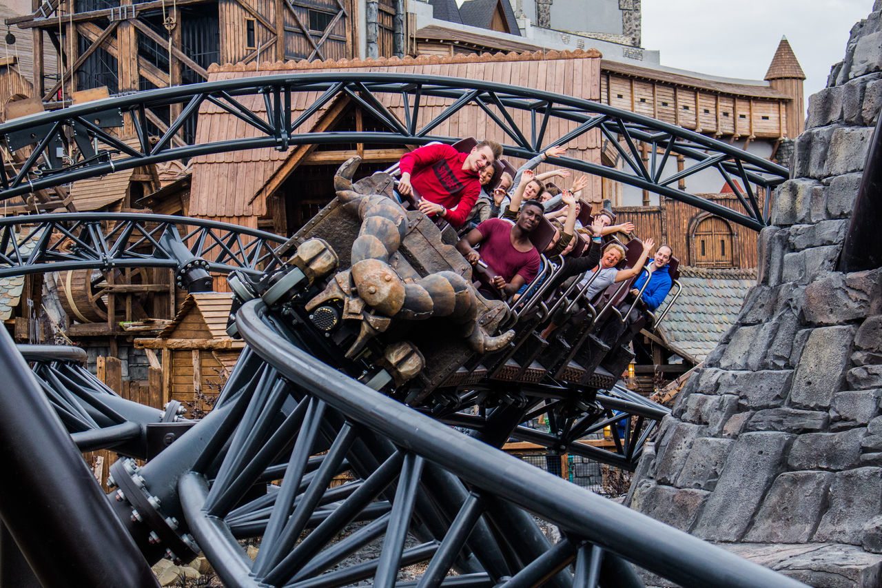 Achterbahn Amusement Park Amusement Park Ride Coaster German Coaster People Phantasialand Rollercoaster Taron