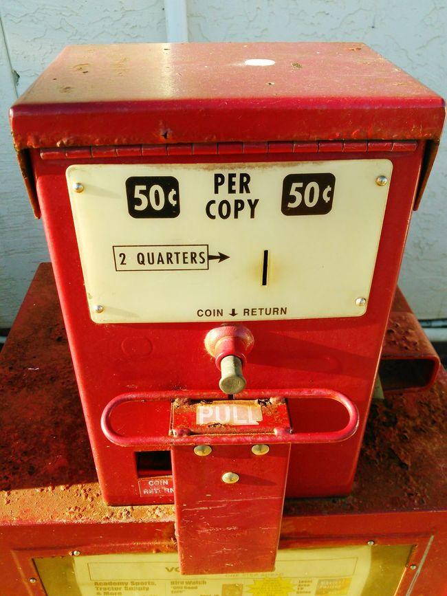 Showcase: November Newspaper Vending Maching Moneymaker