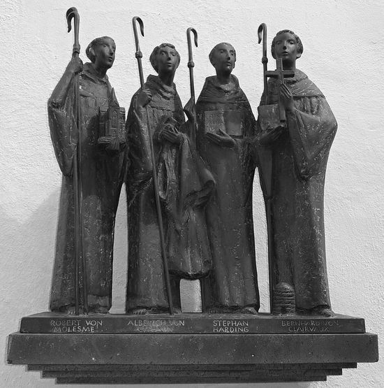 Altenberger Dom Bergisches Land Cistercian Cistercian Abbey Faith Religion And Tradition Faith & Patience Human Representation Male Likeness Monk  Monks Religion Religion And Beliefs Religion And Faith Sculpture Statue Black And White Black And White Photography