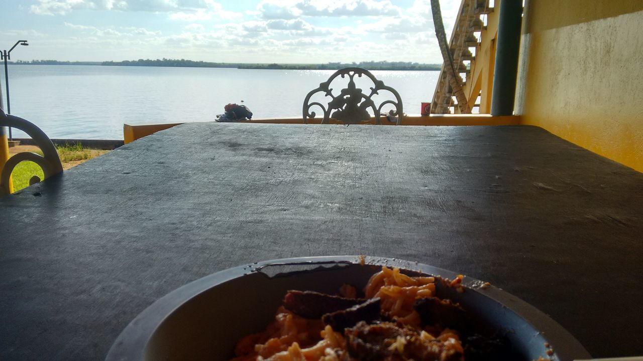Lunch with the best view Peace ✌ Nofilter Noedit Natureriver Lunch Time