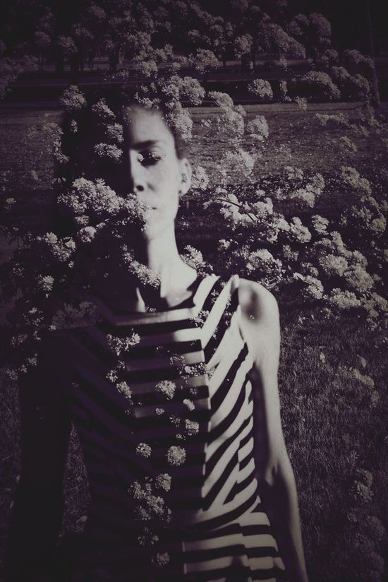 dream Doble Exposure Black And White Collection  Selfportrait Nature