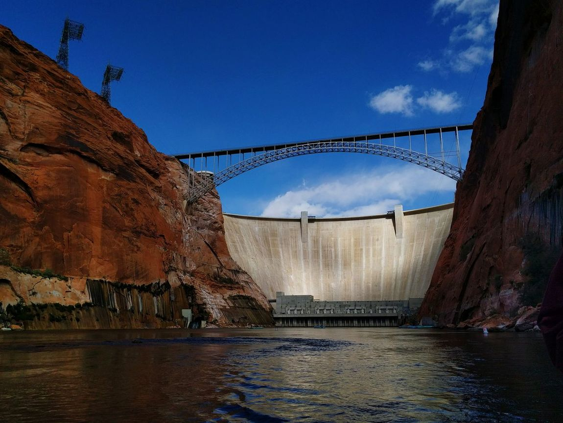 Found On The Roll First Eyeem Photo Glen Canyon Dam Beautiful Bridge Blue Sky And Clouds