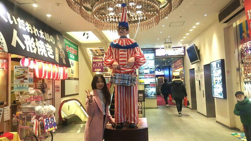 Osaka-shi,Japan Travel Boy Beat Drums Red&blue Glasses Pinkcoat ThatsMe Wonderful Place