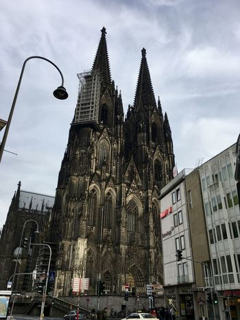 Architecture Building Exterior Built Structure City Clock Clock Tower Cloud - Sky Cologne Cologne Cathedral Cultures Day History Kölner Dom Kölner Dom Cathedral Kölnerdom Low Angle View No People Outdoors Place Of Worship Religion Rose Window Sky Tower Travel Travel Destinations