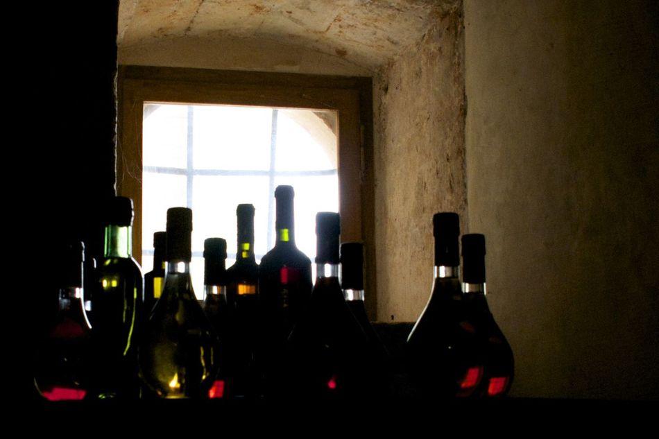 Backlighting Wine Bottles On Table Wine Moments