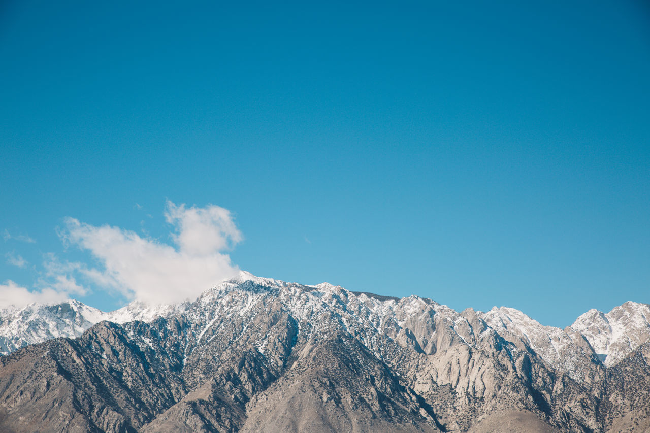 Arid Climate Arid Landscape Blue Sky CA-190 California Death Valley Desert Mountain Range Mountains Peaks Road Roadtrip