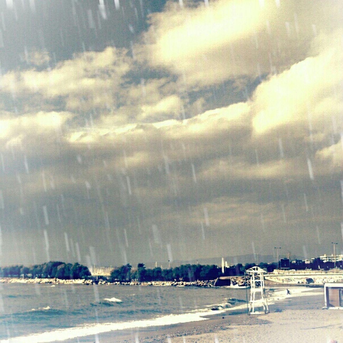 Hurricane... Beach Raining Greece Monochrome Streetphotography