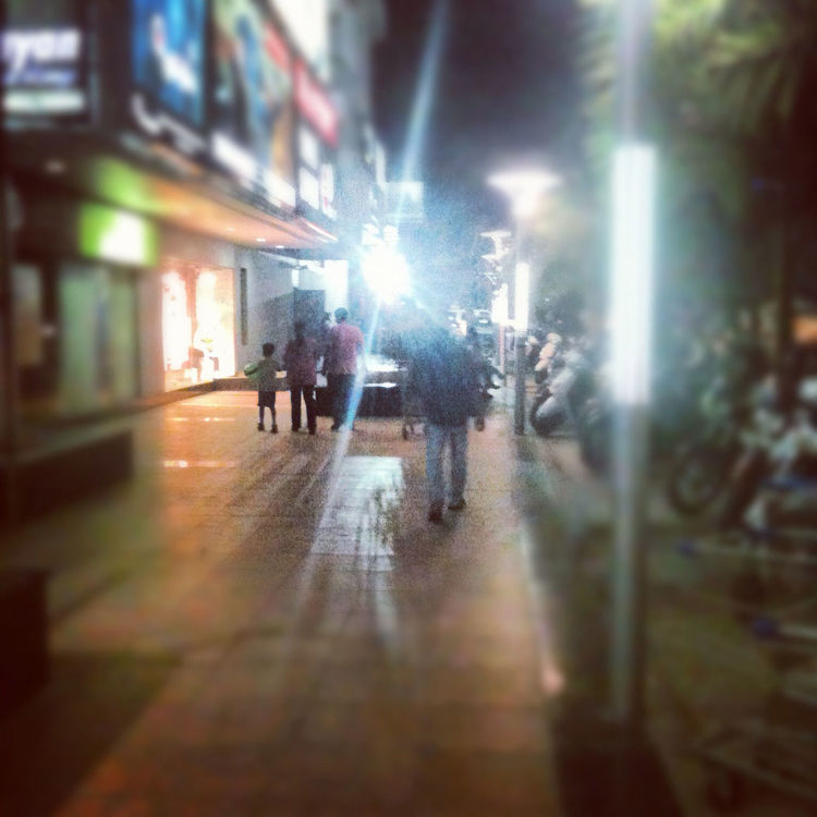 street at Malhar Mega Mall by Nikkofgold