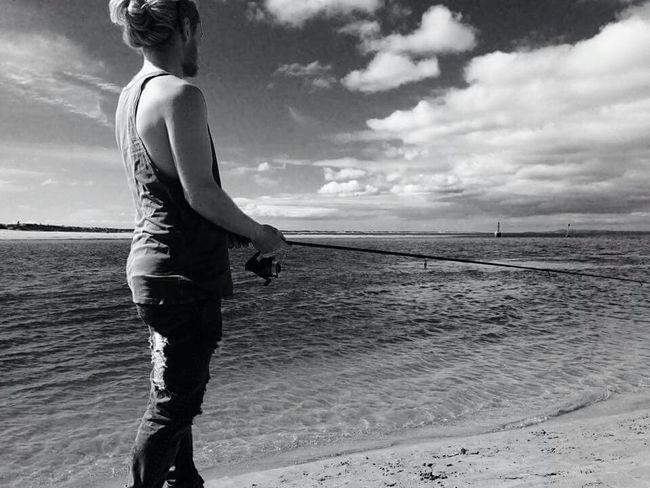 Beach Fishing Solace Ocean Here Fishy Fishy