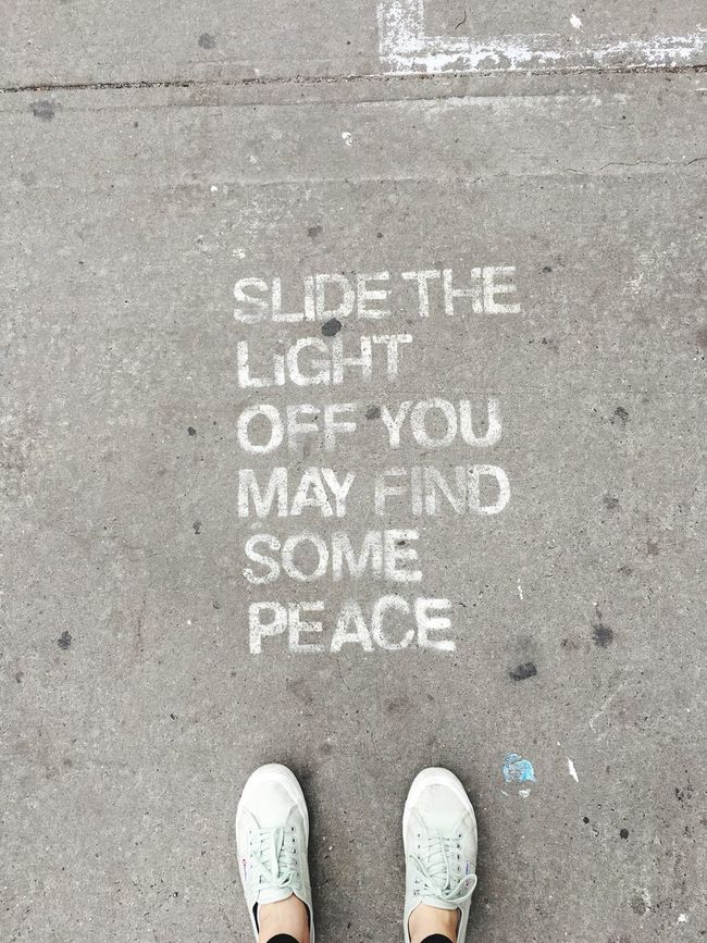 Quote Street Street Art From Where I Stand