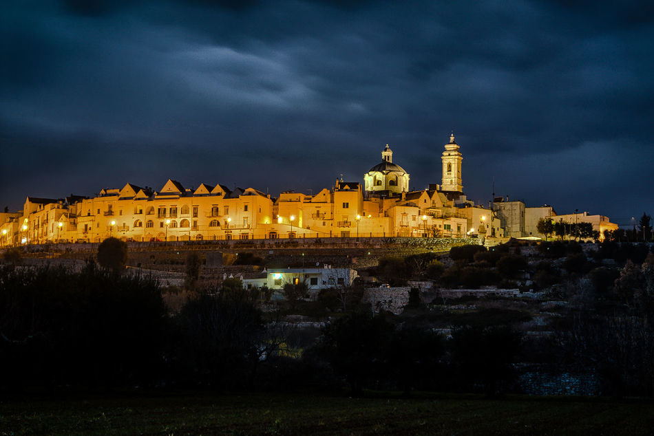 Apulia Italy Italia Puglia Architecture Building Exterior Built Structure Cloud - Sky History Illuminated Locorotondo Nature Night No People Outdoors Scenics Sky Travel Destinations Valle D'itria