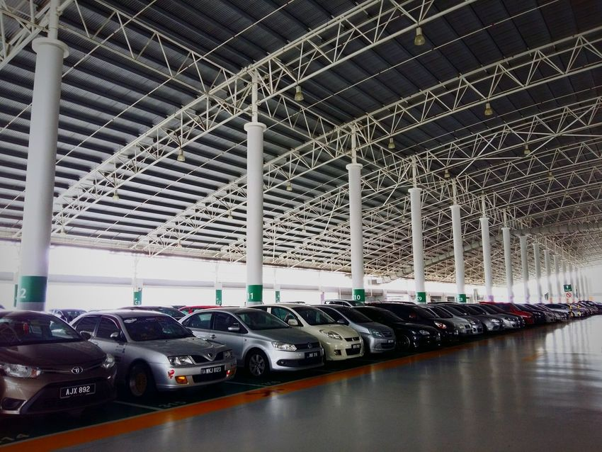 6th floor. Car Mode Of Transport Architecture Indoors  Built Structure No People Parking Lot Roof Structure LocalGuides Malaysia Scenery Malaysia