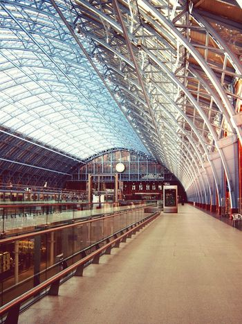 Architecture Built Structure Transportation Bridge - Man Made Structure Sky City Connection Indoors  Day No People Track And Field St Pancras Station St Pancras St Pancras International London