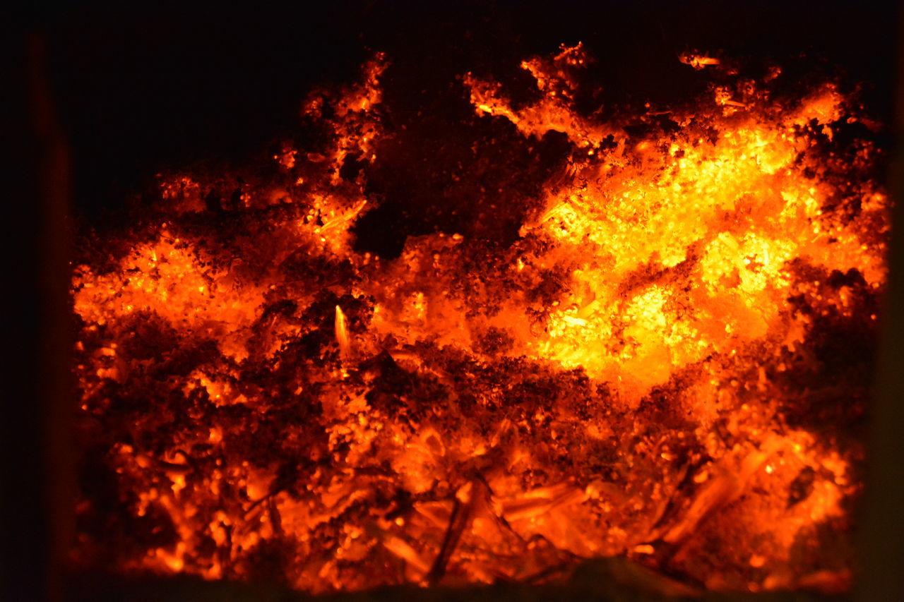 Burning Close-up Fire - Natural Phenomenon Fireworks Flame Heat - Temperature