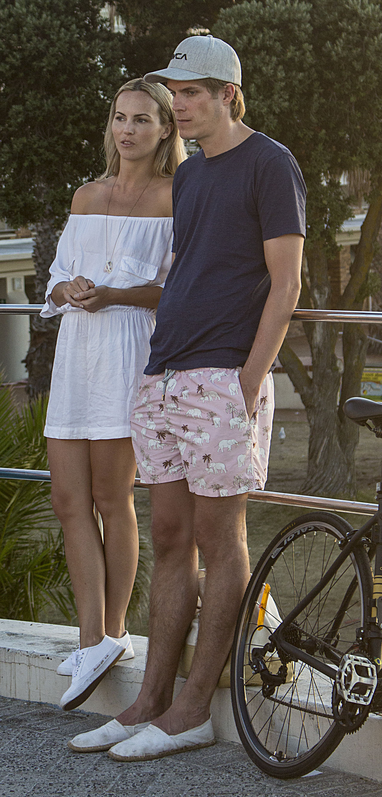 Candid Candid Photography Couple Front View Full Length Legs Observers Streetphotography Sunset Togetherness Two People