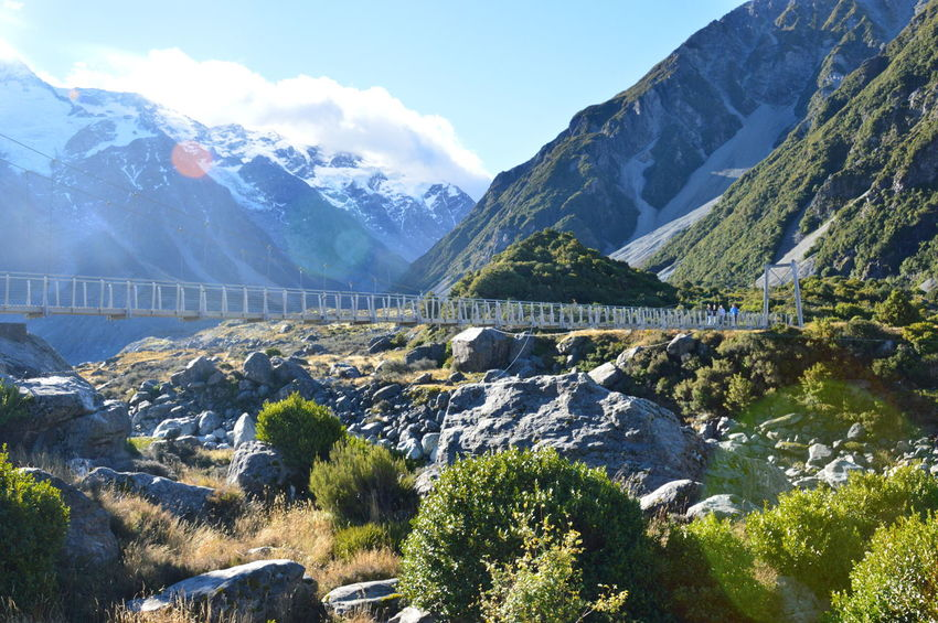 New Zealand Mt Cook Aoraki Mount Cook National Park Mount Cook Landscape Scenic Nature Outdoor Bridge Valley Mountains Mountain Range EyeEmNewHere