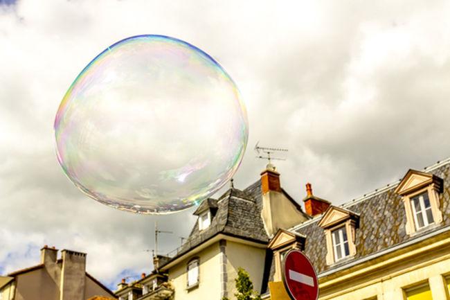 Aurillac Clouds France Outdoors Soap Bubbles Sphere Street Art Transparent