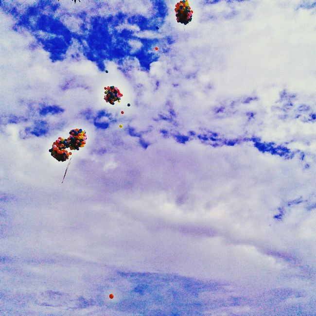 Baloon On Air Blue Sky Whiteclouds