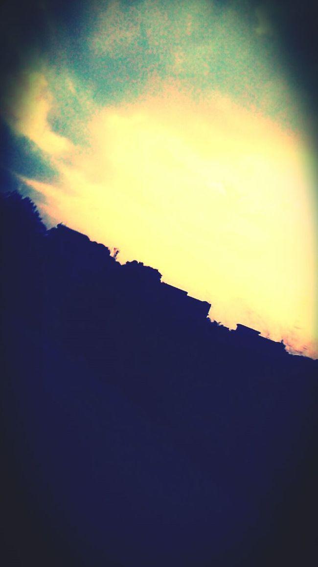 The sunset sky....