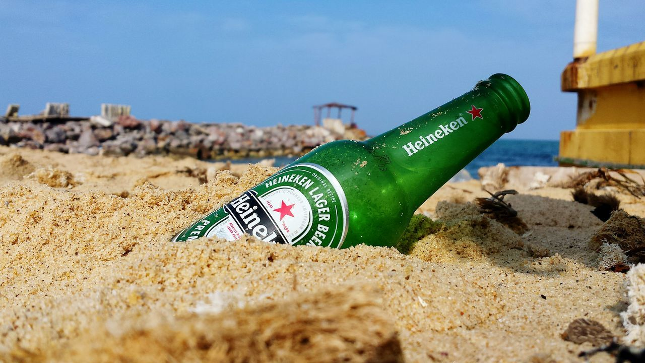 Vacations Close-up Alcohol No People Outdoors Day Drinking Heineken Beer