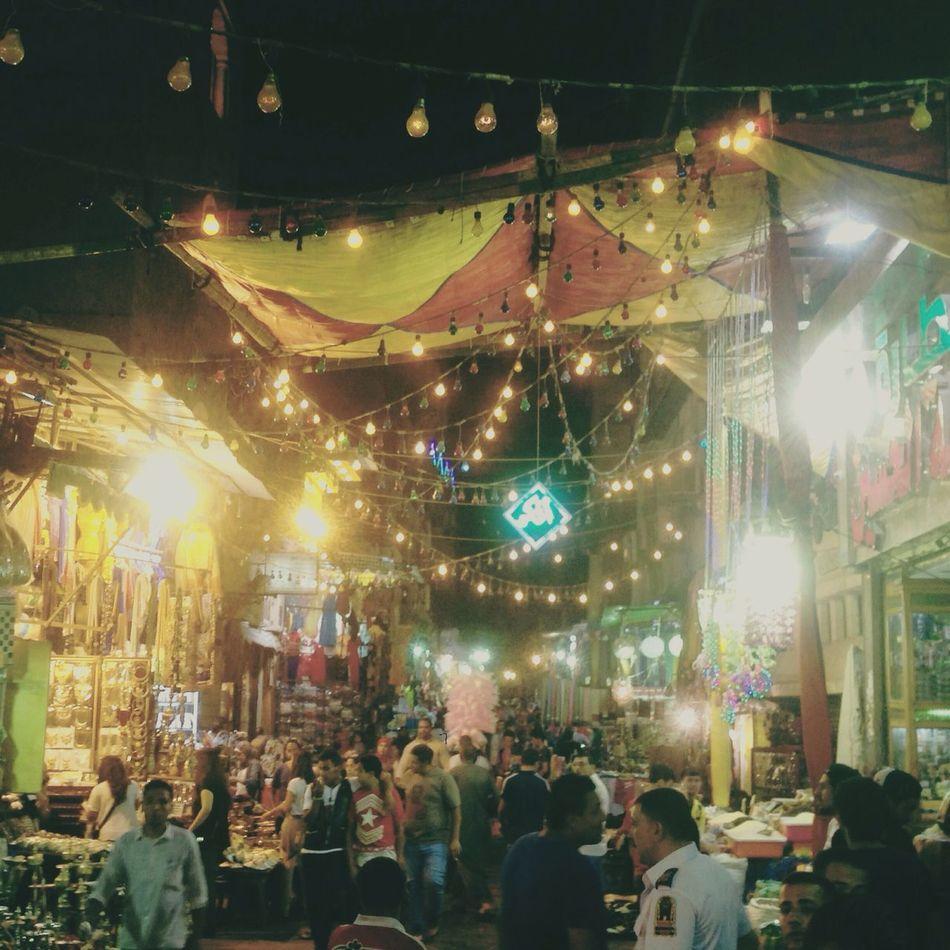 A random ramadan night at Khan El Khalili, Cairo. Hello World
