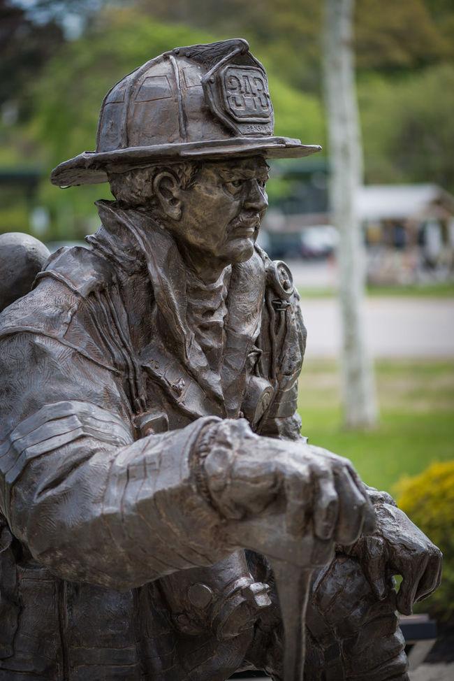 Art Close-up Creativity Day Firefigher Fireman Fireman Memorial Focus On Foreground Nature No People Outdoors Sculpture Statue