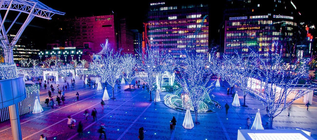 Hakata Station Christmas Illuminations Tadaa Christmas Lights Illumination Night Lights Station