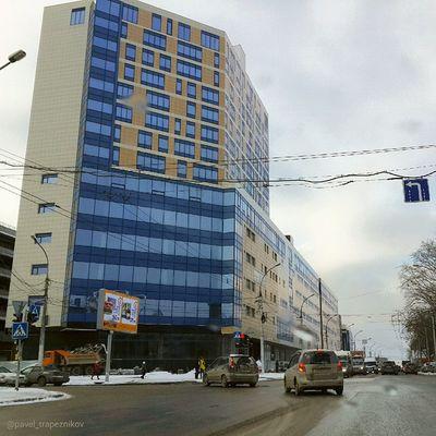 20141109 , Россия , Новосибирск , улицаВатутина . Городская архитектура / Russia, Novosibirsk. Architecture of city.