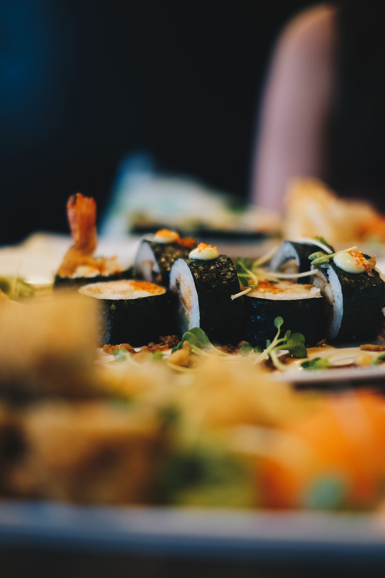 Close-up Day Differential Focus Food Food And Drink Freshness Healthy Eating Indoors  No People Ready-to-eat Selective Focus Sushi Vegetable