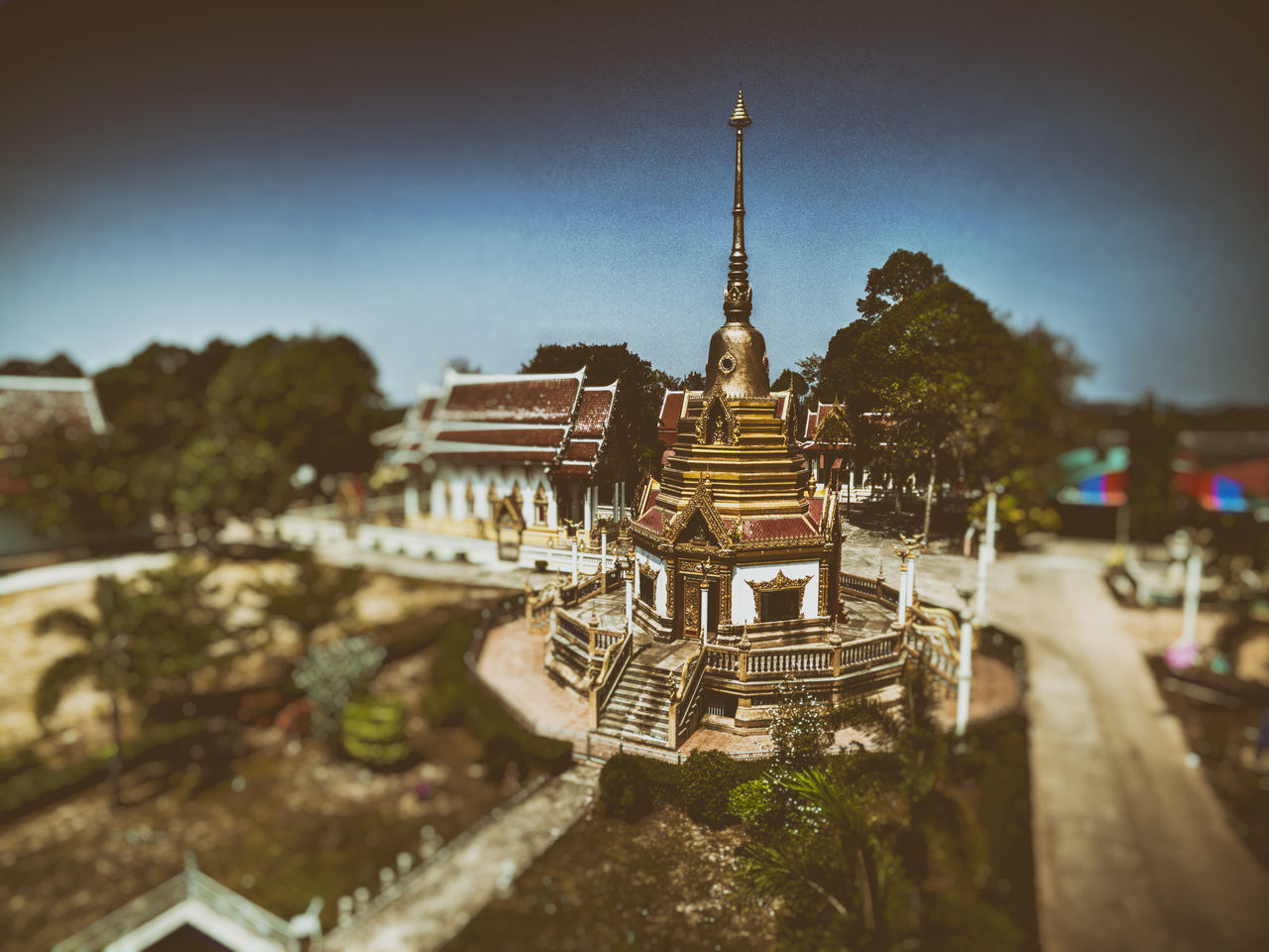 Drone view of a temple in Rayong Thailand Travel Sky Architecture Place Of Worship Religion Landscape Temple Temple Architecture Thailand Rayong Thailand Travel Destinations Tradition Tourism Visit Discovering Discover  Drone  View From Above Drone Photography Stupa Wat Chedi Golden Temple