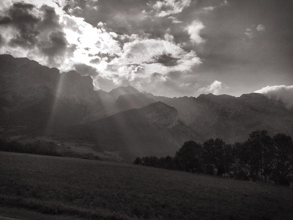 Alpes AlpesFrancaises Noir Et Blanc