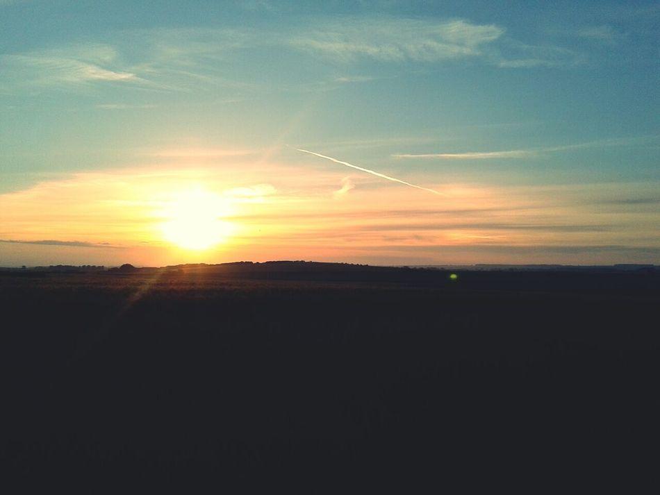 Sunset on The Coast in Barmston, Bridlington.