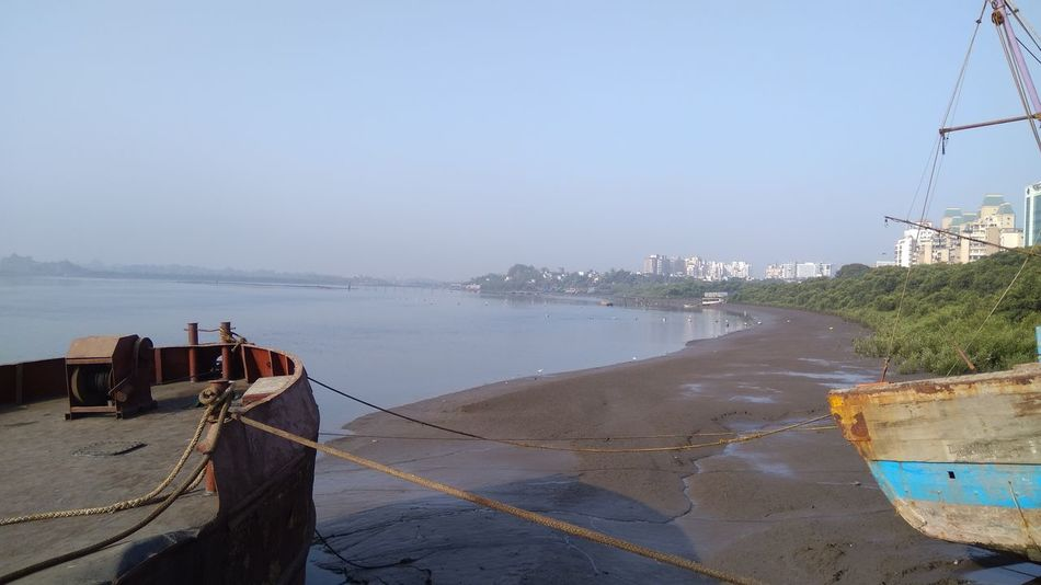Sea Beach Water Sand Outdoors Nautical Vessel No People Sky Day Tranquility Horizon Over Water Nature Architecture City