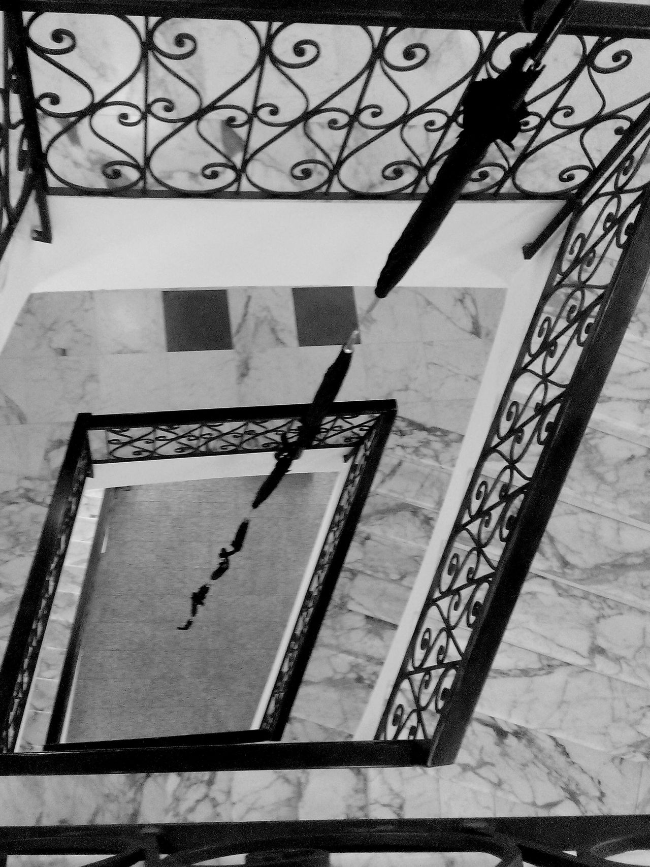 looking down Architecture Built Structure No People Indoor Photography Blackandwhitephoto Eyeem Black And White Photography Eyeem Black & White Eyeem Black And White Collection Stairs Indoors  Museum Stairs_collection Umbrellas Art Stairs Geometry Geometry Eyeemphotography Check This Out From My Point Of View EyeEm Gallery Art Museum Eyeem Stairs Collection EyeEm Stairways Taking Photos Indoors