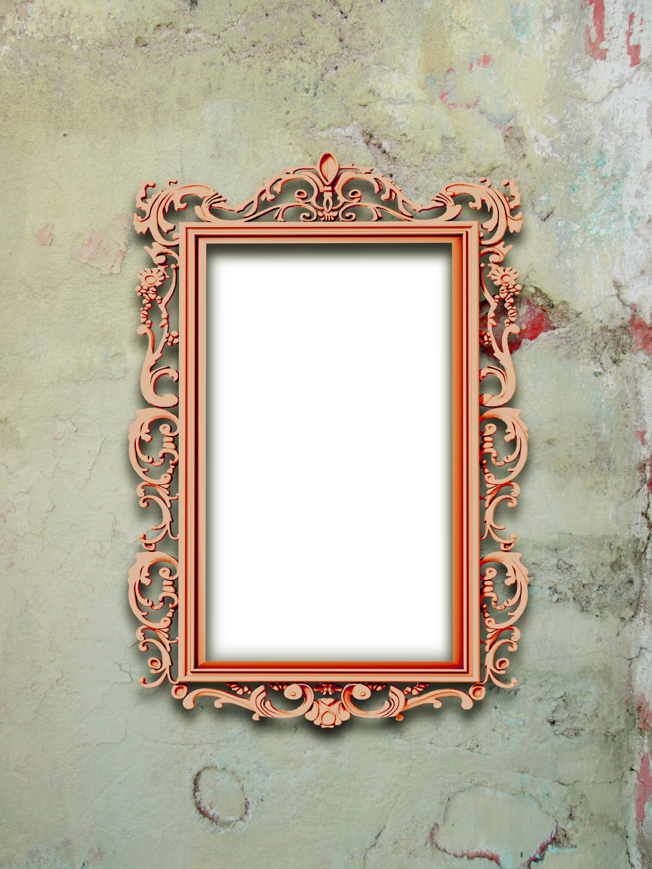 Single metal red baroque frame on scratched concrete wall background Art And Craft Art Nouveau Frame Baroque Blue Close-up Concrete Weathered Wall Creativity Indoors  Metallic Mirror Frame Old-fashioned Ornate Picture Frame Rectangular Frame Red Rococo Rough Scratched And Cracked Wall Shades Of Grey Single Vertical Metal Frame Stains Wall - Building Feature