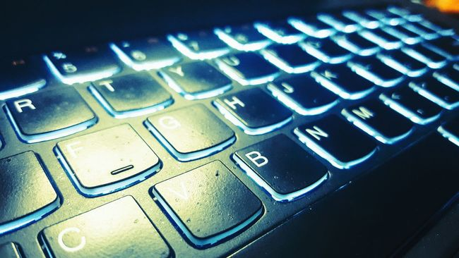 Laptops and Keyboards Taking Photos Check This Out The Innovator Getting Inspired Inspired Technology Laptop Keyboard Light And Shadow From Where I Stand From My Point Of View Lights Alphabetography Glowinthedark Blue Capture The Moment Techy Tech