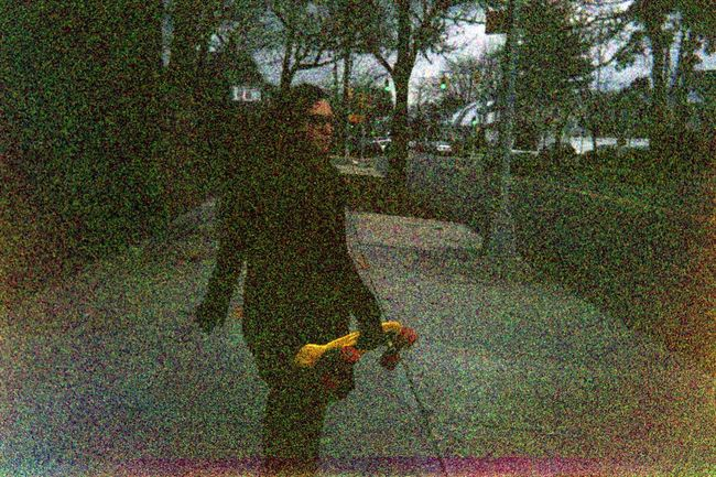 Expired film from 2003 City Life Day Expired Film Expiredfilm Film Outdoors Pennyboard Person Skateboarding Street Walking Winter