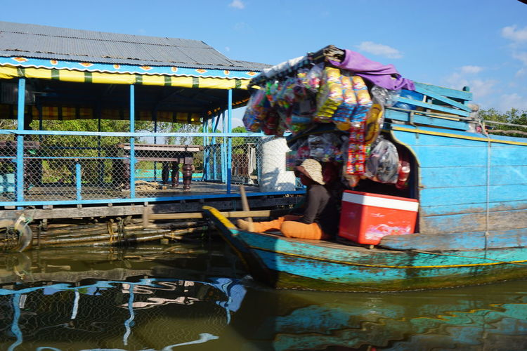 ASIA Asian Culture Boat Shop Cambodian Life House Boat House Boats Nautical Vessel Outdoors Shop Boat Store On A Boat Transportation Water