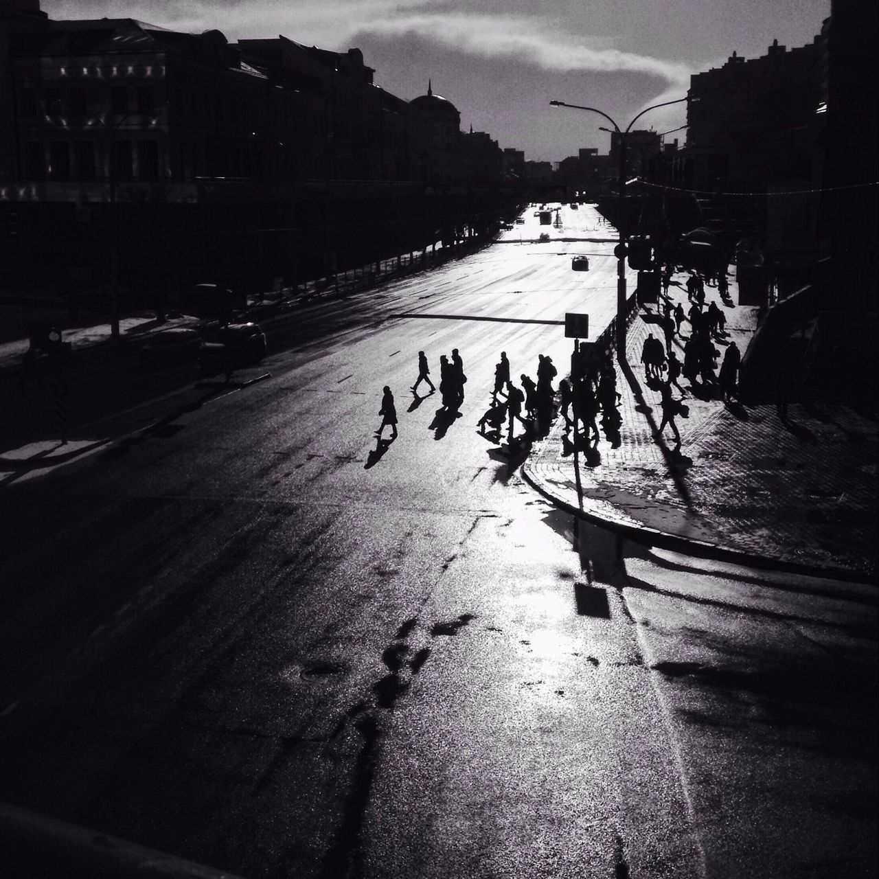 Traffic Real People Large Group Of People Lifestyles Sunlight Outdoors Streetphotography Blackandwhite