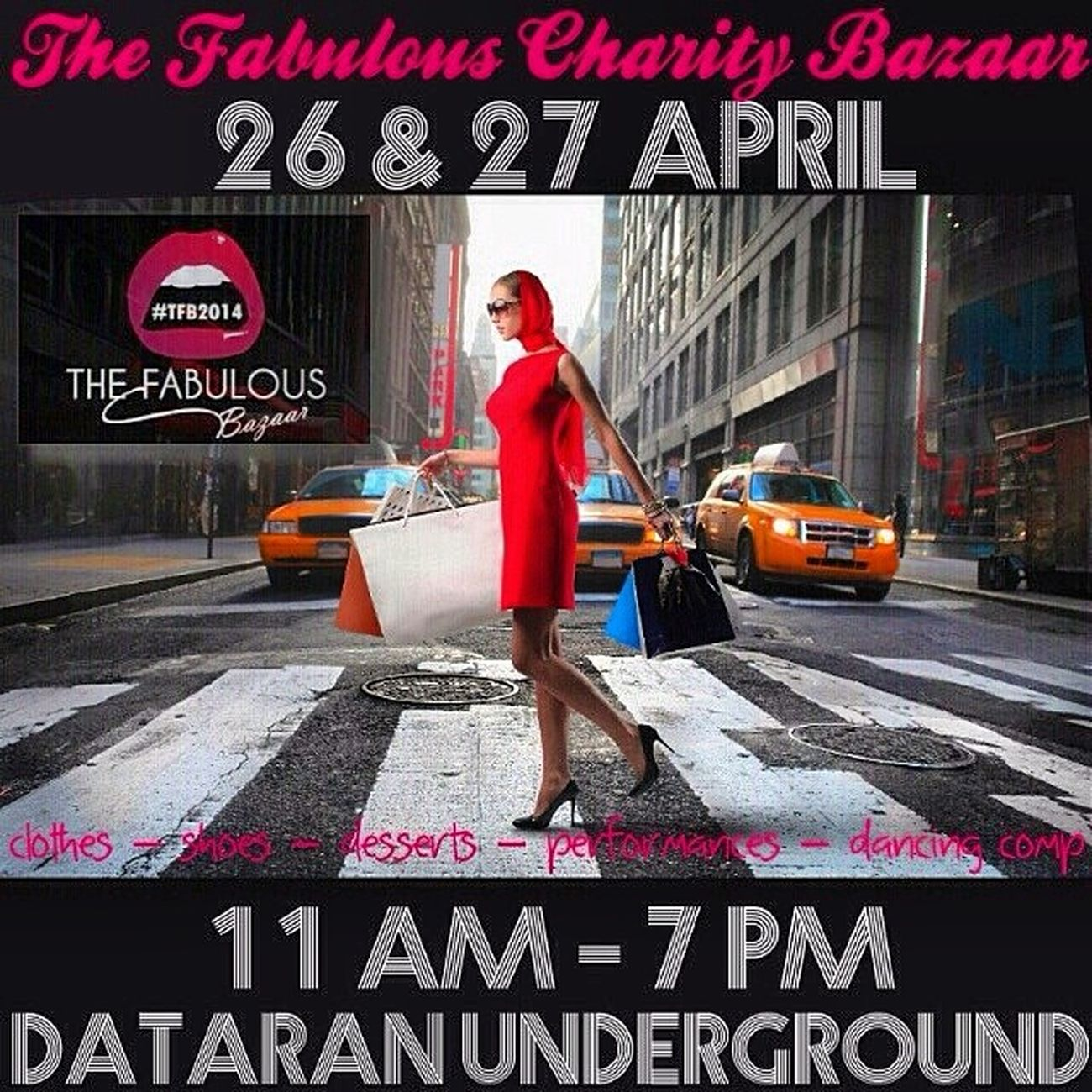 The Fabulous Charity Bazaar @thefabulousbazaar Tfb2014 Date : 26 & 27 April Venue : Dataran underground, Dataran Merdeka, Kuala Lumpur Time : 11 am - 7 pm Please please spread the news to show your support to my charity event. I appreciate your help and kind support! Thank you in advance lovelies!