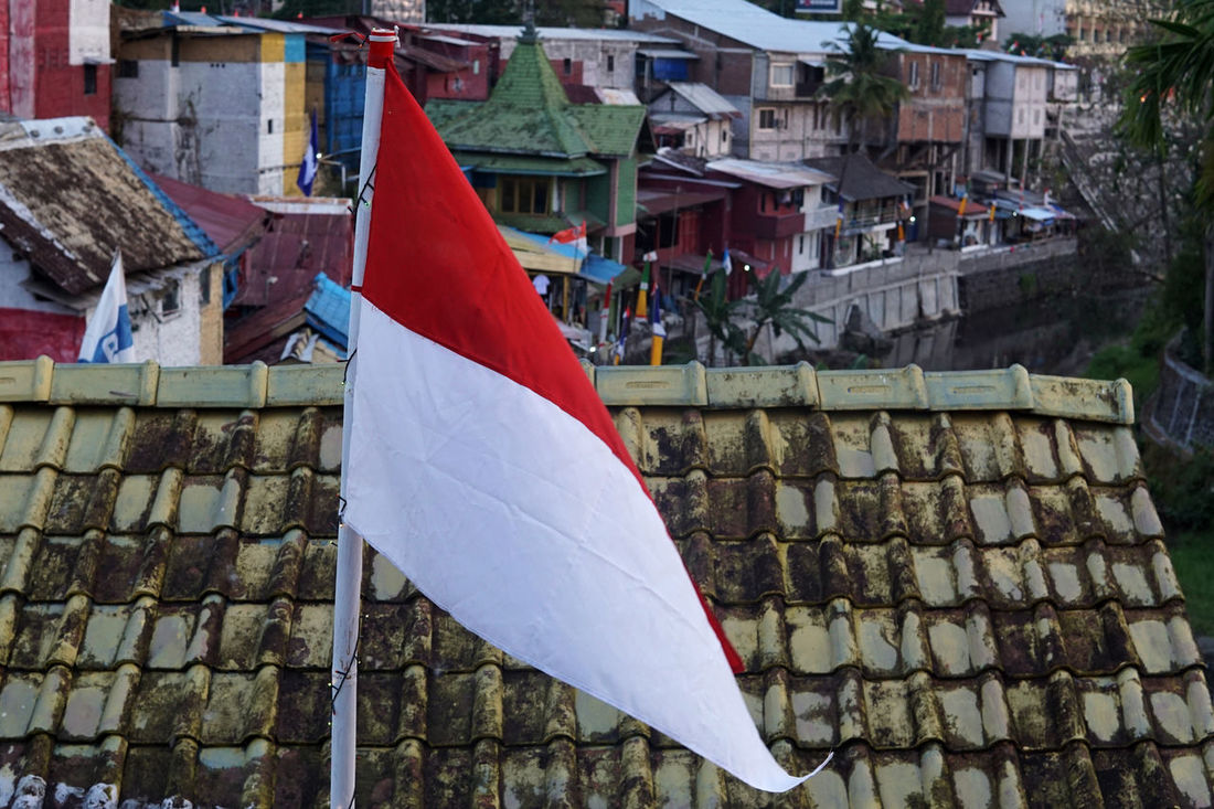 INDONESIA Architecture Building Exterior Built Structure Day Flag Hanging Indonesia Flag No People Outdoors