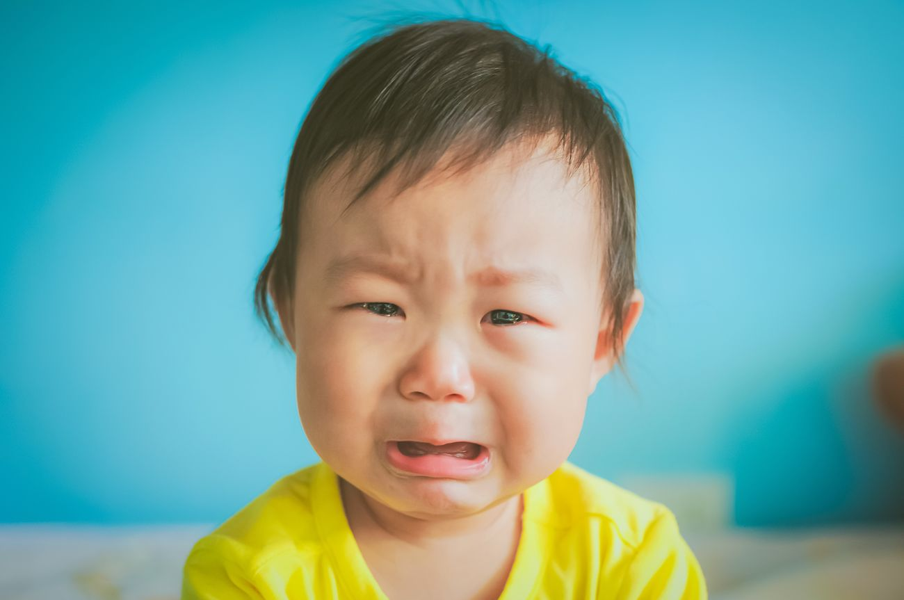 A crying baby Childhood Headshot One Person Real People Front View Portrait Indoors  Girl Close-up Day People Chinese Asian  Crying Blue Yellow SOB Weep Baby Babygirl Child Childhood Memories Children Children Portrait China
