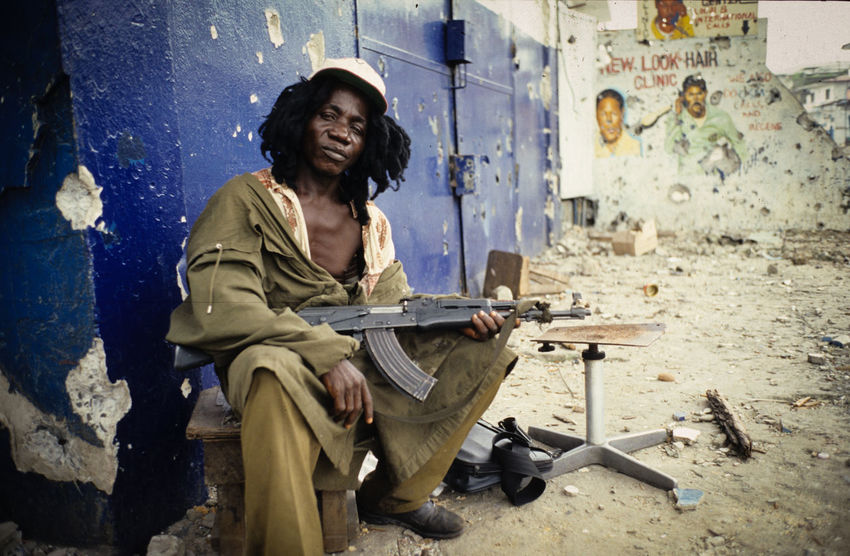 Lurd rebel soldier during the civil war in Liberia Civil War Adults Only Africa Afrika BloodDiamond Child Soldiers Crack Drogen Lord Of War Lurdy Monrovia One Person Rebel War AK47 Zerstörung  The Portraitist - 2017 EyeEm Awards The Photojournalist - 2017 EyeEm Awards
