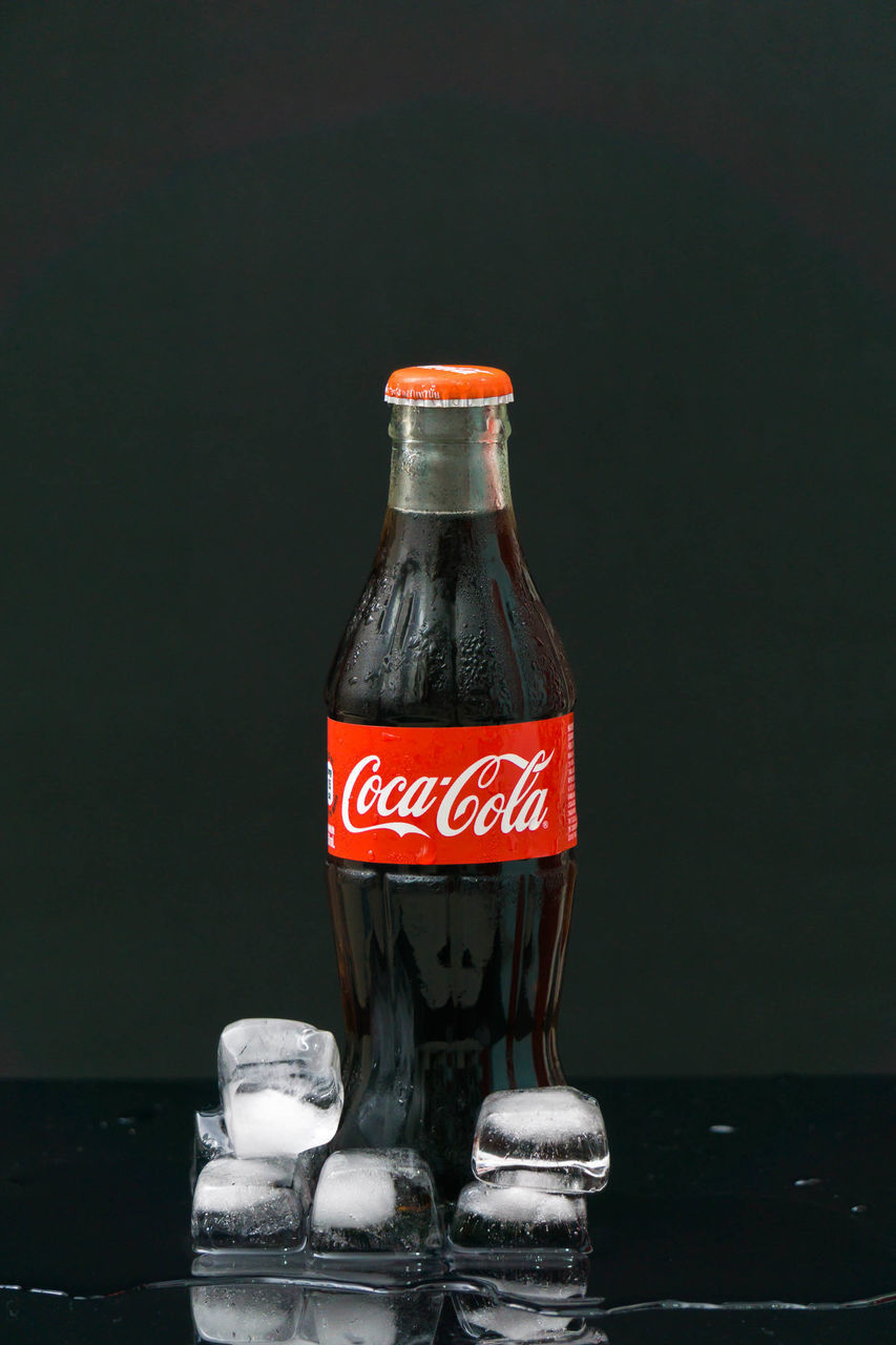 bottle, food and drink, drink, no people, refreshment, black background, close-up, indoors, water, food, freshness, day
