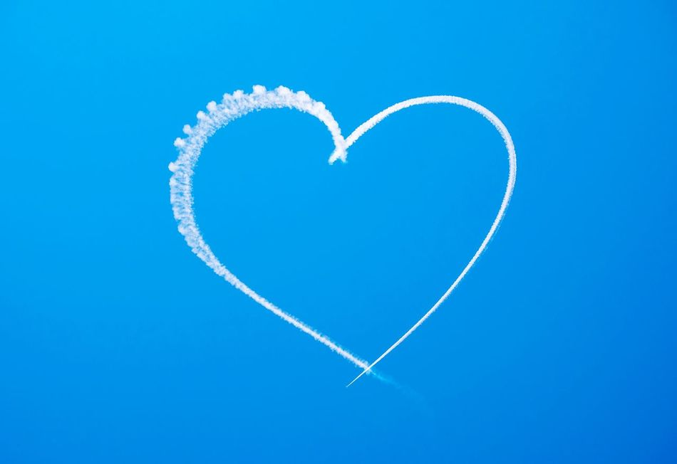Beautiful stock photos of heart, , Blue, Clear Sky, Copy Space