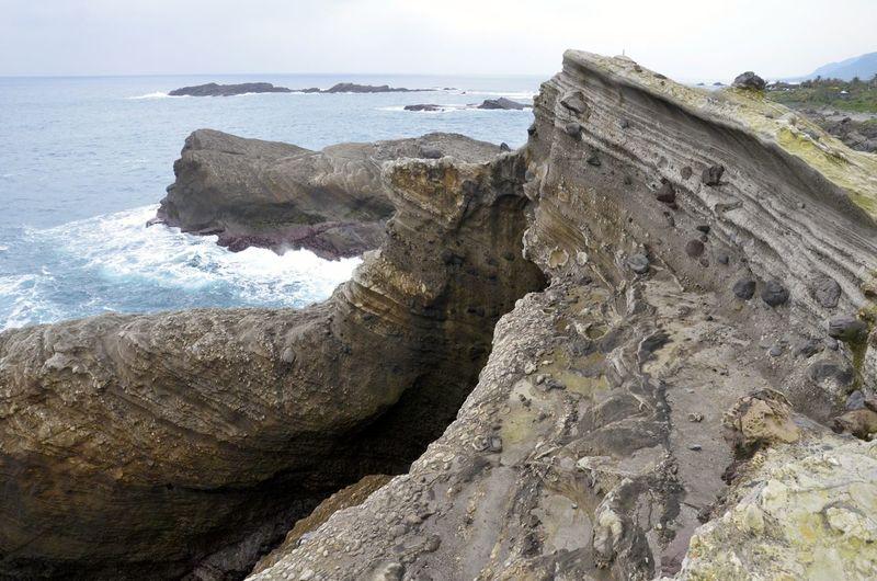 Beauty In Nature Coastline Rock Rock - Object Rock Formation Scenics Sea Water Natures Diversities Hualien, Taiwan