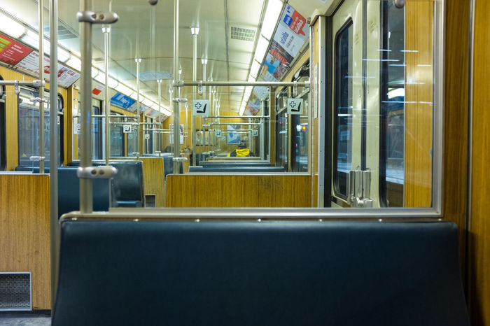 Ubahn Metro Underground Empty Wagon  Seats