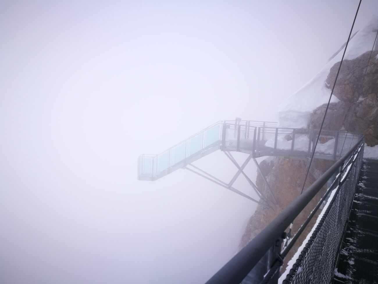 Built Structure Fog Outdoors Sky Bridge - Man Made Structure No People Day Dachstein Nature Mountain Cold Temperature Winter Snow